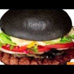 Burger King's Gourmet Charred Bamboo & Squid Ink Burger!